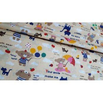 Детское постельное белье в кроватку бязь Пикник