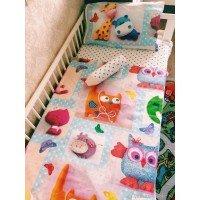 Детское постельное белье в кроватку поплин Мир Игрушек