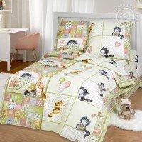 Детское постельное белье в кроватку бязь ГОСТ Шалунишки