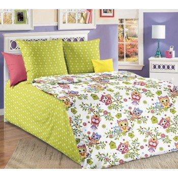 Детское постельное белье в кроватку бязь Милые Совята Совята от Комфорт Текстиль в интернет-магазине PannaTeks
