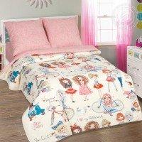 Детское постельное белье для девочки поплин Стиляги