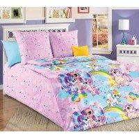 Детское постельное белье в кроватку бязь Звездочка