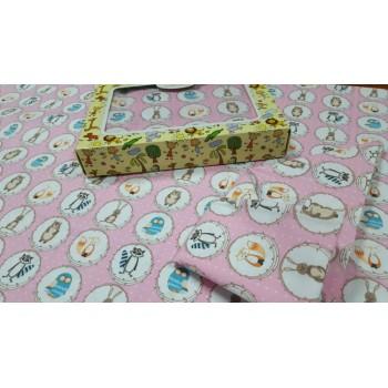 Детское постельное белье в кроватку бязь Зоолэнд фото 1