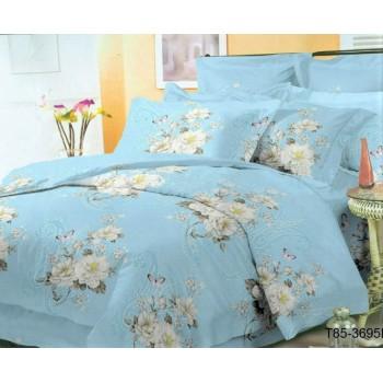 Постельное белье полисатин 3695-BLUE