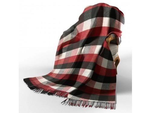 Плед шерстяной Палермо крас-черн-бел №4 4084 от Vladi в интернет-магазине PannaTeks