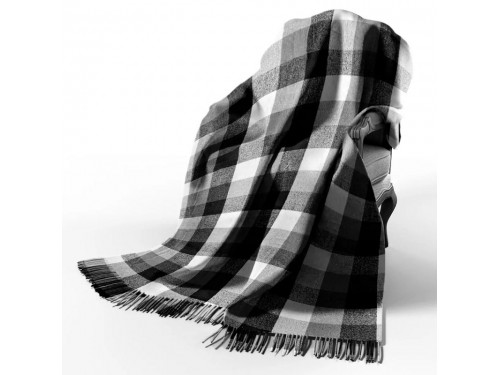 Плед шерстяной Палермо бел-сер-т.сер 4370 от Vladi в интернет-магазине PannaTeks