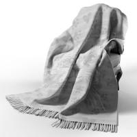 Хлопковый плед Кот 140х200 серый