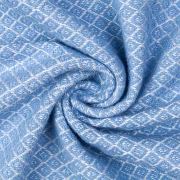 Плед хлопковый Gala140х200 голубой фото 1