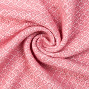 Плед хлопковый Gala140х200 розовый фото 2