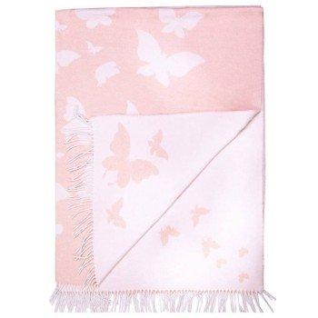 Хлопковый плед Бабочки розовые