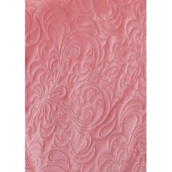 Покрывало стеганое V18 розовое фото 1