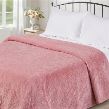 Покрывало стеганое V18 розовое
