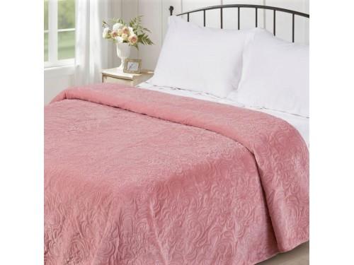 Покрывало стеганое V18 розовое 198008 от Love You в интернет-магазине PannaTeks