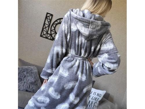 Женский теплый домашний халат велсофт Перышки 2128 от Modnyashka в интернет-магазине PannaTeks