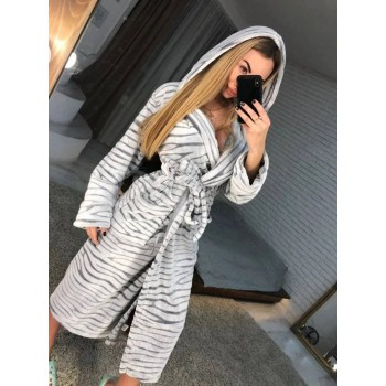 Женский теплый домашний халат велсофт Шиншилла фото 2