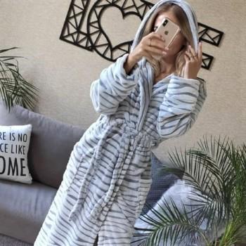 Женский теплый домашний халат велсофт Шиншилла 2132 от Modnyashka в интернет-магазине PannaTeks