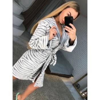 Женский теплый домашний халат велсофт Шиншилла фото 3