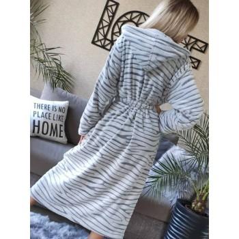 Женский теплый домашний халат велсофт Шиншилла фото 6