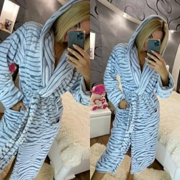Женский теплый домашний халат велсофт Шиншилла фото 10