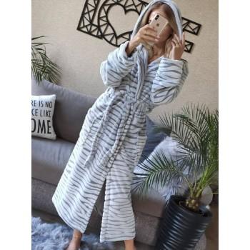 Женский теплый домашний халат велсофт Шиншилла фото 5