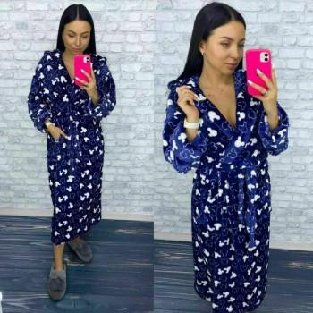 Женский теплый домашний халат велсофт Микки фото 6