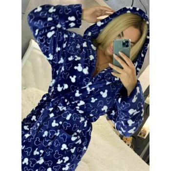 Женский теплый домашний халат велсофт Микки фото 1