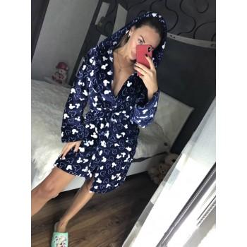 Женский теплый домашний халат велсофт Микки фото 14