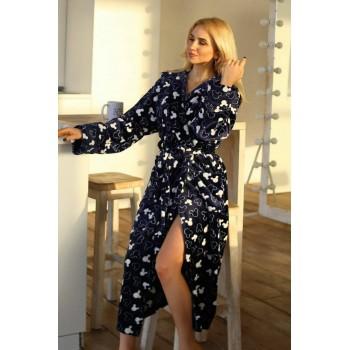 Женский теплый домашний халат велсофт Микки фото 7