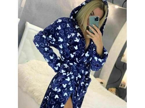 Женский теплый домашний халат велсофт Микки 2134 от Modnyashka в интернет-магазине PannaTeks