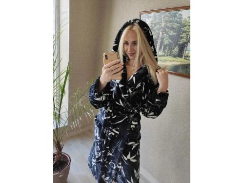 """Женский теплый домашний халат велсофт """"Панды"""" 2135 от Modnyashka в интернет-магазине PannaTeks"""