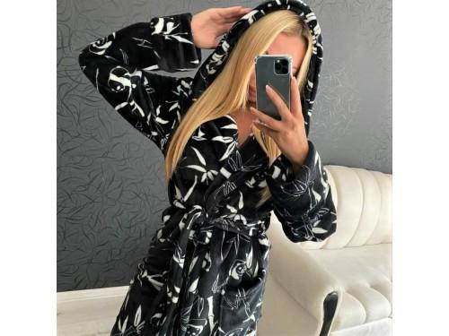 Женский теплый домашний халат велсофт Панды 2135 от Modnyashka в интернет-магазине PannaTeks