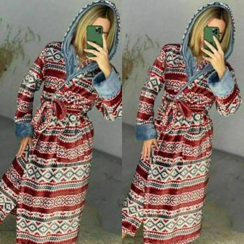 Женский домашний халат Красный Орнамент фото 9