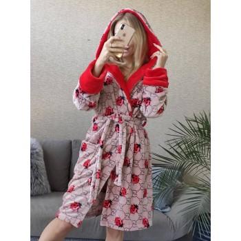 Женский теплый халат с капюшоном Божья Коровка фото 2