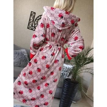 Женский теплый халат с капюшоном Божья Коровка фото 6