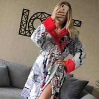 Женский домашний халат с капюшоном Британия