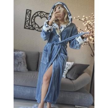 Женский халат с капюшоном Цветочный Рай фото 4