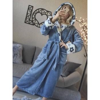 Женский халат с капюшоном Цветочный Рай фото 5