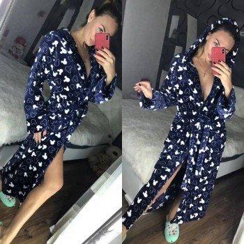 Женский теплый домашний халат велсофт Микки фото 10