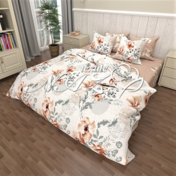 Комплект постельного белья бязь 6948-A-B 6948 от NAZ textile в интернет-магазине PannaTeks