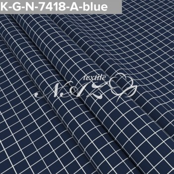 Комплект постельного белья бязь 7418-A-blue фото 1