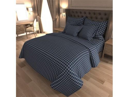 Комплект постельного белья бязь 7418-A-blue 7418 от NAZ textile в интернет-магазине PannaTeks