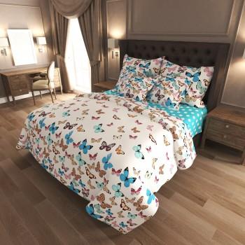 Комплект постельного белья N-7453-A-B-blue 7453 от NAZ textile в интернет-магазине PannaTeks