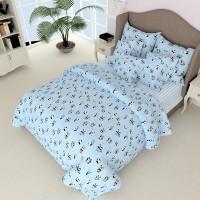 Детское постельное белье бязь Маленькие Пандочки 7511 голубые