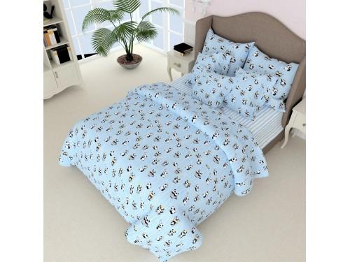 Комплект белья подростковый бязь 7511-A-B-blue 7511 от NAZ textile в интернет-магазине PannaTeks