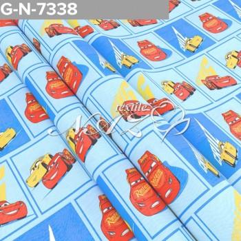 Детское постельное белье бязь Тачки 7338 голубой фото 1
