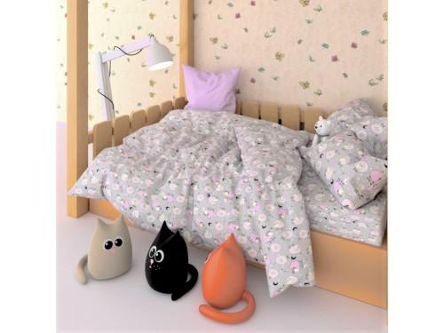Детское постельное белье бязь Розовые Барашки 7554-pink 7554 от NAZ textile в интернет-магазине PannaTeks