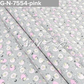 Детское постельное белье бязь Розовые Барашки 7554-pink фото 1