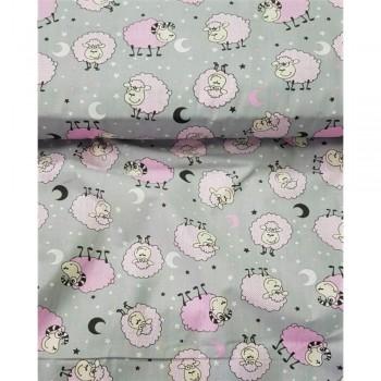 Детское постельное белье бязь Розовые Барашки 7554-pink фото 2