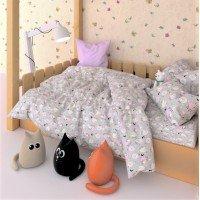 Детское постельное белье бязь Розовые Барашки 7554-pink