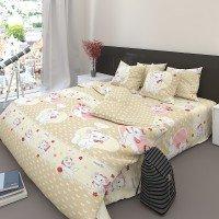 Детское постельное белье бязь Кошка Мэри 7559-beige